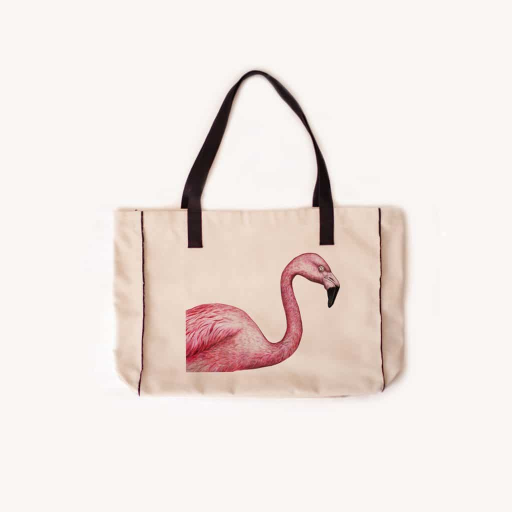 Flamand cabas 1024x1024 - Flamant Rose